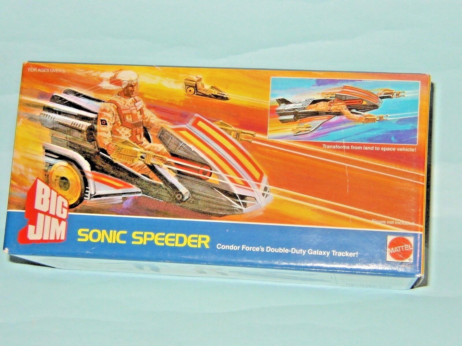 Big jim sonic roller scooter - flitzer - mattel 1986   2349 mib perfetto