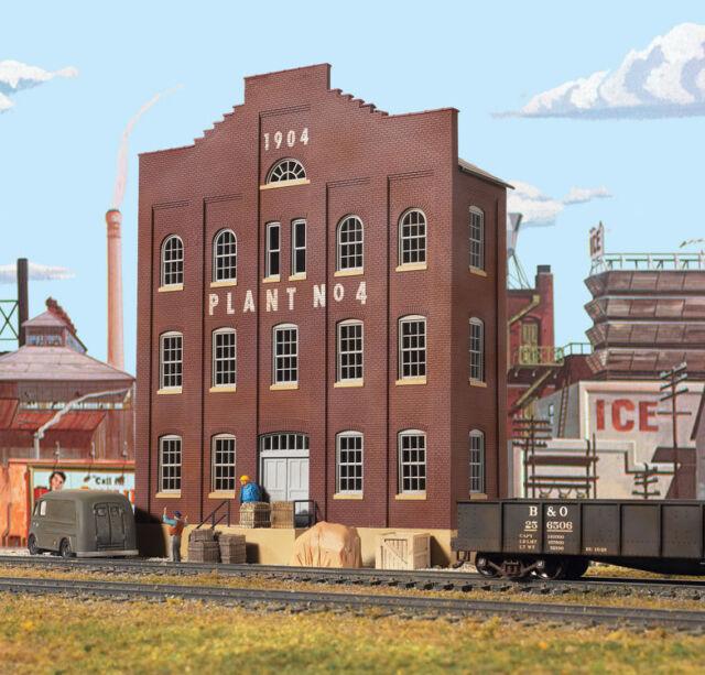 Échelle H0 Kit de Montage Plant #4 Bâtiment D'Arrière-plan 3183 Neu