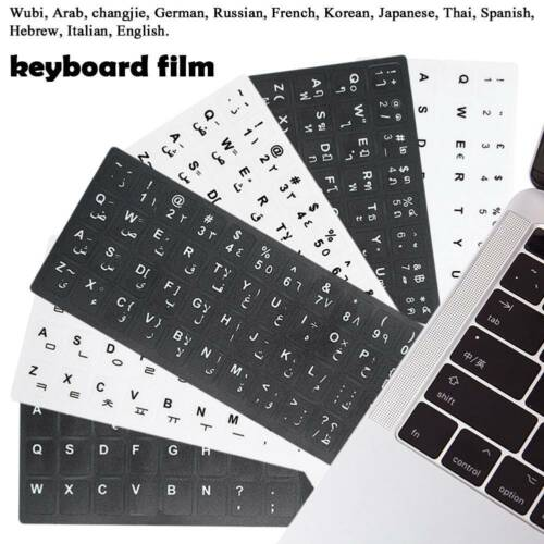 Multi Language Keyboard Cover Film Layout Protect Skin for Tablet Laptop MacBook