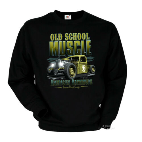 Oldtimer Hot Rod Camion US ARMY CLASSIC AUTO CUSTOM Sweater Pullover 1073-sw