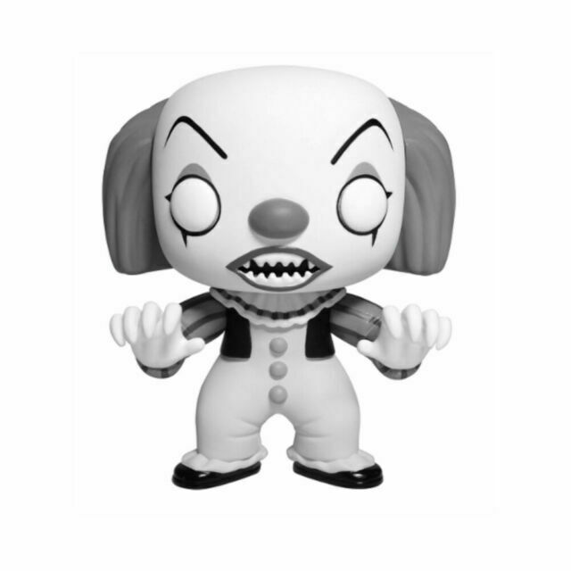 POP It Movie PENNYWISE #55 Black And White EXCLUSIVE by Funko Brand New