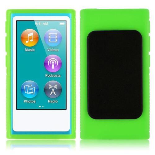Super Soft Rubber Gel Case Cover Belt Clip Holder for iPod Nano 7 7th Generation