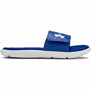 Boys Under Armour 3021313-400 Mercenary blue /& white slides sandals