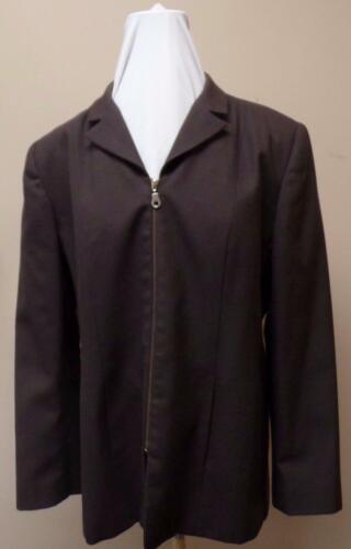 Vintage Brown Zippered Harve Benard Jacket Designe