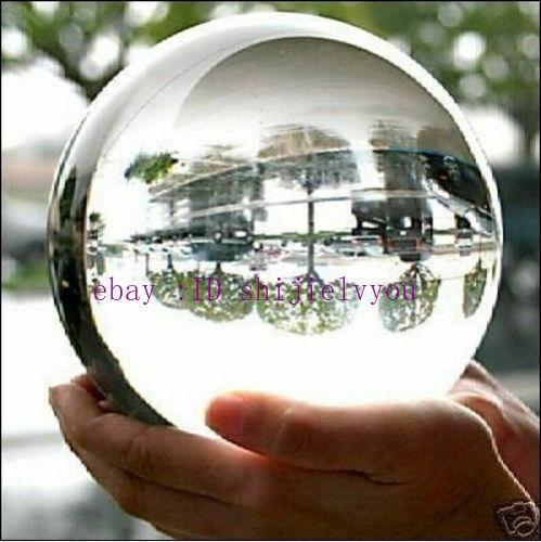Énorme 110 mm asiatique Rare naturel Quartz Clair Magic Crystal Healing BALL SPHERE Sta