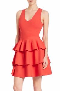 Forest Green Fit /& Flare Ruffle Dress Sosandar Sizes 6-12, 18