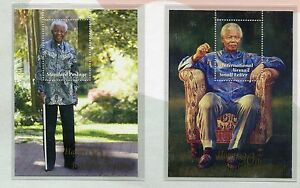 Official-2008-Mandela-90th-Birthday-Hard-Cover-FDC-South-Africa-2-Mini-sheets