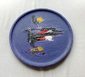 Bruno-Cantais-1st-painting-on-maple-plate-1ere-peinture-assiette-erable-2005