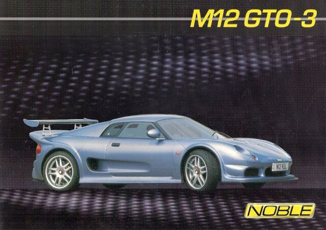 Noble M12 For Sale >> Noble M12 Gto 3 Uk Sales Brochure 2003