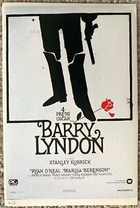 Film-fanartikel Poster Plakat Aufkleber Sticker 1976 Stanley Kubrick Barry Lyndon Schrumpffrei