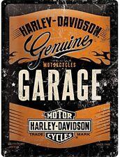 fd Harley Davidson Logo on Girl large metal sign 400mm x 300mm