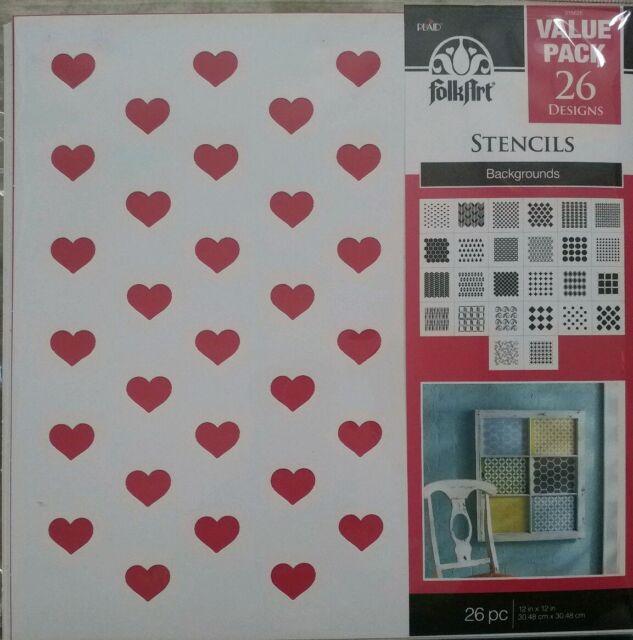 FolkArt Die Cut Paper Stencils 31564E Phrases 26-Pack