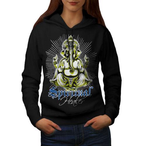 Wellcoda Spiritual Healer God Womens Hoodie Ganesha Casual Hooded Sweatshirt