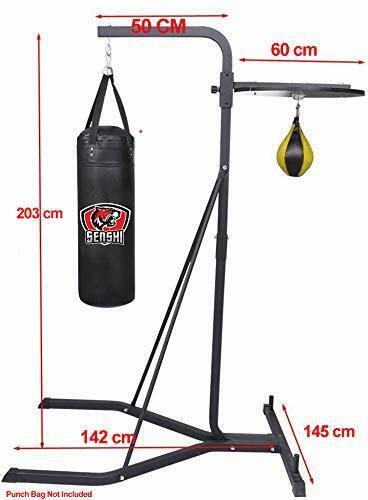 UK Warrior's Speed Ball e Punch Bag IN ACCIAIO SUPPORTO FRAME per uso domestico o in palestra