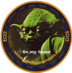 2013-Boy-Scout-Jamboree-Marin-Council-JSP-Jacket-Patch-Star-Wars-Set-Yoda-Badge