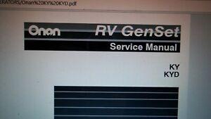 Details about Onan RV Generator Microlite 4000 KY & KYD RV GenSet Factory on onan fuel pump wiring diagram, onan rv generator wiring diagram, onan emerald 4000 wiring diagram,