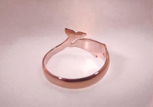 11MM BRIAN SLAGLE™ HAWAIIAN 14K ROSE GOLD NAI`A BOTTLENOSE SPINNER DOLPHIN RING