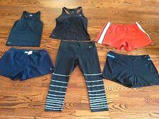 Sz L - Lot of 6 Nike Yoga Run Fit-Dry Athletic Crop Leggings shorts Tops Women
