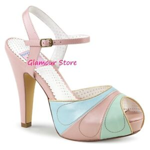 35 De 11 Chic Rose Heel 41 Rose Up Plateau Pin à Multicolore Sexy 5 Sandales Chaussures pq4YO0IY