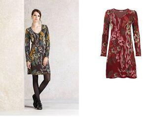 rojo vestido Forest Dress 62721 patrón marrón patrón floral Ivko Charmed n7xWZwqZI