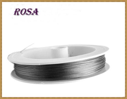 LS-Acier Soie 100 m bijoux fil 0,30-0,38-0,45mm