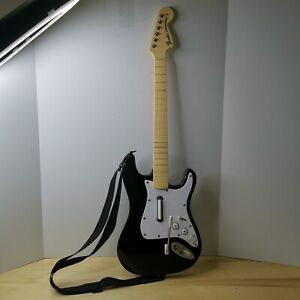 Harmonix Rockband Fender Stratocaster Wireless Wii Guitar 19091 WORKS, NO DONGLE