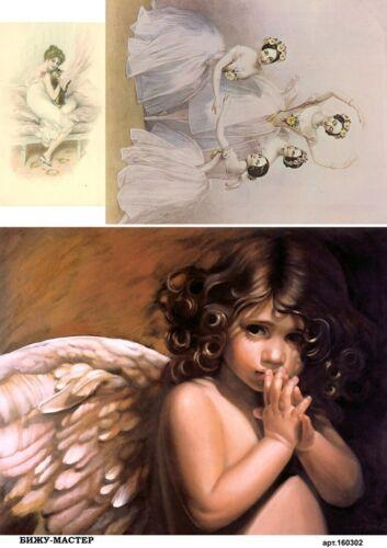 Rice paper decoupage 160302 napkin vintage ballerina angel Decoupage supplies