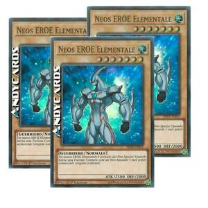 3x-NEOS-EROE-ELEMENTALE-Elemental-Hero-Neos-Super-R-SHVA-IT031-Yugioh