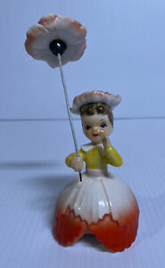 Napco-Flower-Of-The-Month-Girl-Miss-Carnation-January-A1949-1956-Umbrella
