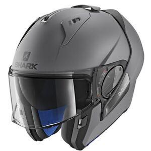 Shark-Evo-ONE-2-Plain-Matt-AMA-Flip-Up-Modular-Motorcycle-Helmet-Pinlock-ZQ