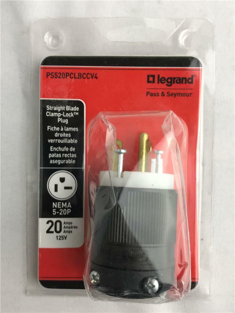 3PK Pass /& Seymour #L1430PCCV3 30A 250V Black Lock Plug,No L1430PCCV3