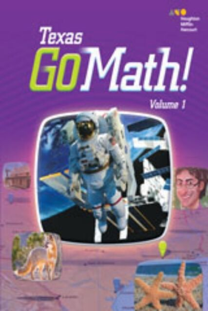 Go Math Texas Grade 3 Student Edition Set 3rd Volumes 1 2