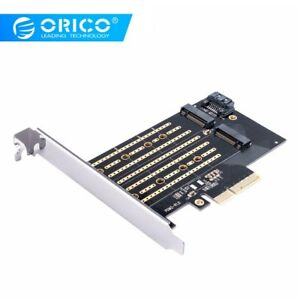 Details about ORICO M-Key M 2 NVME to PCI-E 3 0X4 High-speed Extension Card  Dual Ports 4TB Max