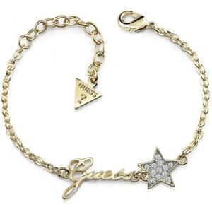 GUESS-Bracciale-donna-Starlicious-UBB84039-S-acciaio-pvd-oro-stella-cristalli