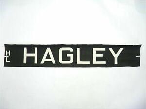 Vintage-screen-printed-linen-Bus-destination-blind-HL-Hagley