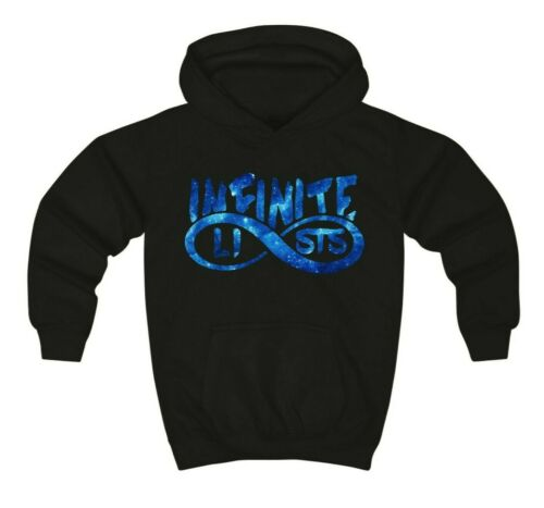Infinite Lists Blue KIDS Infinite Lists Logo Hoodie Infinite Lists Sweatshirt