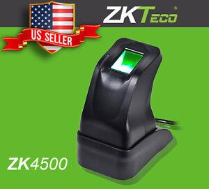 Details about ZKTeco USB Fingerprint Reader Scanner Sensor ZK4500 for PC  Home Office inbio SDK
