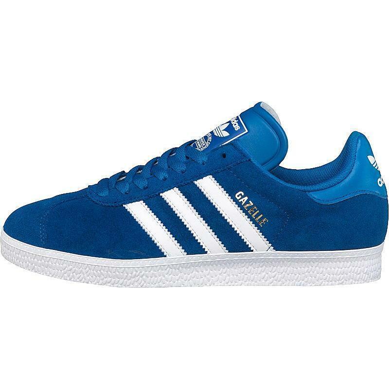 Adidas Originali Gazzella Ll Blu Reale   Bianche da Uomo Numeri UK