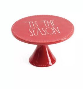 Rae-Dunn-Red-12-Christmas-039-TIS-THE-SEASON-Cake-Stand-New