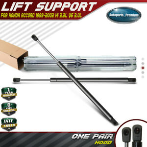 2x Front Hood Gas Spring Lift Support Shocks Struts For 1998-2002 Honda Accord
