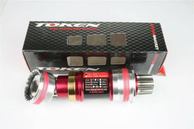 TOKEN TK893TBT Titanium Axis Ceramic Bearing BB Bottom Bracket 68x113mm