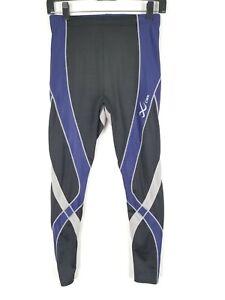 Mens-CWX-Stabilyx-Compression-Tights-Baselayer-Stretch-Size-Large-Black-Blue