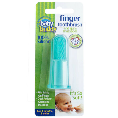 Silicone Finger Toothbrush (Green) Baby Buddy : Baby Buddy Oral Care Program