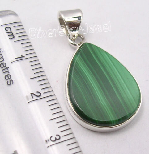 Discount Jewelry 925 Solid Silver DROP FLAT Gemstones Collectible Pendant