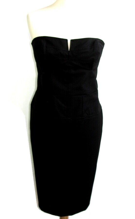 French Connection - Trägerloses Kleid Schwarz Größe 42 Fr 14 UK 10 US - Sehr