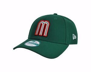NEW ERA 9Forty WBC Mexico Baseball Green Adjustable Strap Adult Cap ... de676da32e0