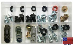 114 Piece Professional Oil Drain Plug & Gasket Assortment Kit - USA Made