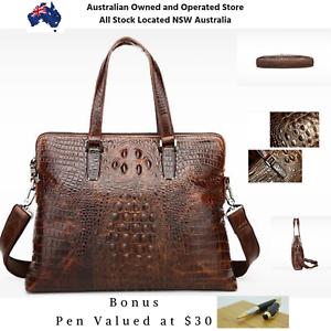 c27c758362c1b Women s First Cut Genuine Crocodile Leather Cross body Shoulder Bag ...
