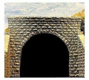 2 Chooch #9750 Double Cut Stone Tunnel Portal - N scale