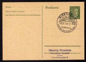 Ganzsache-EISENACH-2-Cachet-Special-22-07-43-WW2
